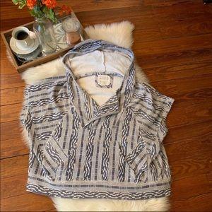 Billabong printed short sleeve hoody sweatshirt m